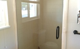 Heavy single shower door